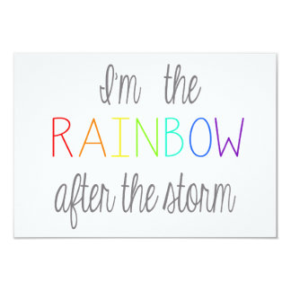 Regenbogen-Baby-Karte *Personalize* 8,9 X 12,7 Cm Einladungskarte