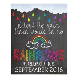 Regenbogen-Baby-Mitteilungs-Foto-Stütze-Zeichen, Fotografische Drucke