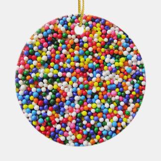 Regenbogen besprüht rundes keramik ornament