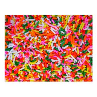 Regenbogen besprüht Süßigkeits-Muster Postkarten