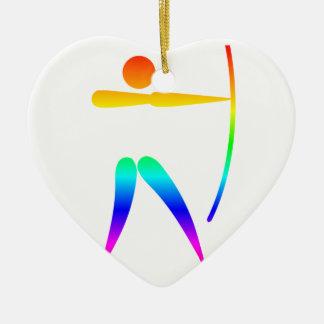Regenbogen-Bogenschießen Keramik Ornament