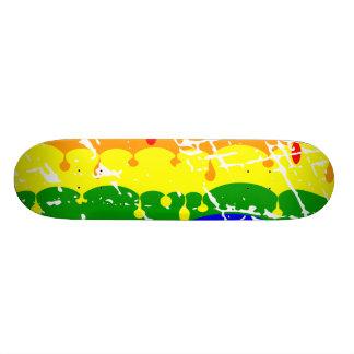 Regenbogen-Bratenfett-Farbe beunruhigt 19,1 Cm Old School Skateboard Deck