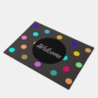 Regenbogen Confetti-Tupfen-Türmatte Türmatte