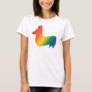 Regenbogen Corgi T-Shirt