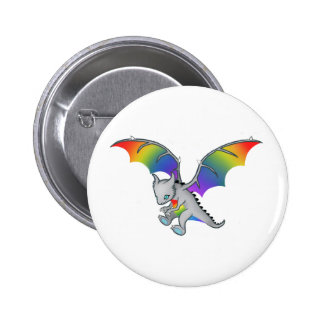 Regenbogen-Drache Runder Button 5,7 Cm
