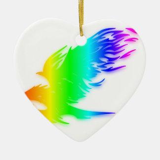 Regenbogen Eagle 3 Keramik Ornament