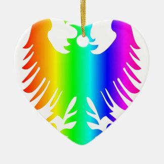 Regenbogen Eagle Keramik Ornament
