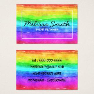 Regenbogen-einfache entworfene Visitenkarte