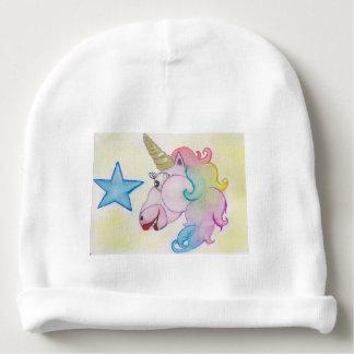 Regenbogen-Einhorn Babymütze