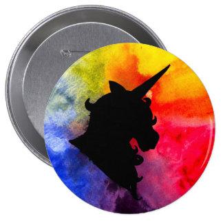 Regenbogen-Einhorn-Knopf Runder Button 10,2 Cm
