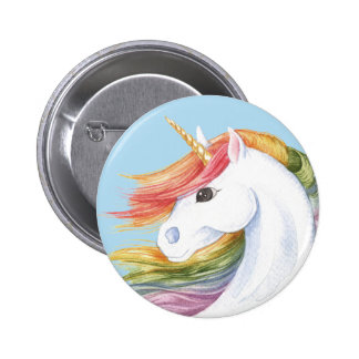 Regenbogen-Einhorn Runder Button 5,7 Cm