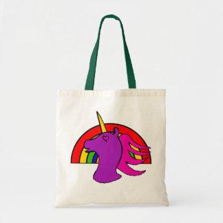 Regenbogen-Einhorn-Tasche Budget Stoffbeutel