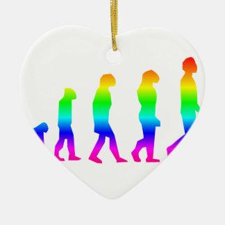 Regenbogen-Evolution Keramik Ornament