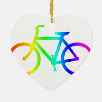 Regenbogen-Fahrrad 4 Keramik Ornament