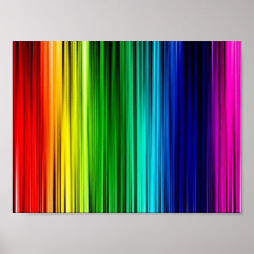 regenbogen farben plakat zazzle. Black Bedroom Furniture Sets. Home Design Ideas