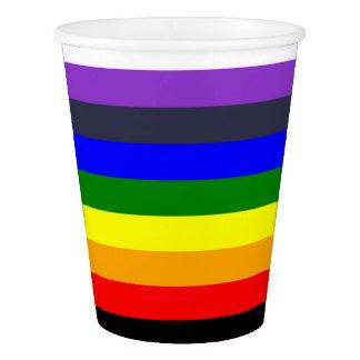 Regenbogen-Farbentwurf mit Extrafarben Pappbecher