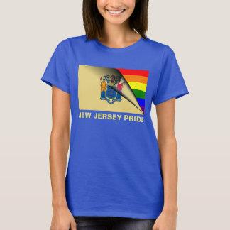 Regenbogen-Flagge New-Jersey Stolz-LGBTQ T-Shirt