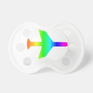 Regenbogen-Flugzeug 2 Baby Schnuller
