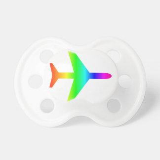 Regenbogen-Flugzeug Schnuller