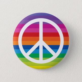 Regenbogen-Friedenszeichen Runder Button 5,7 Cm
