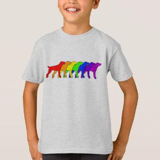 Regenbogen-Gebirgskanaille T-Shirt