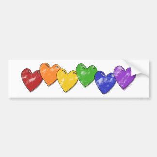 Regenbogen-Herz-Autoaufkleber Autoaufkleber