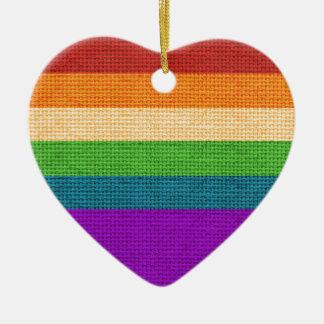 Regenbogen-Herz-Feiertags-Verzierung Keramik Ornament