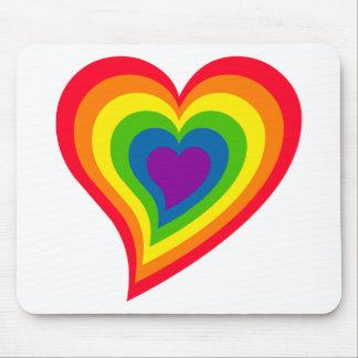 Regenbogen-Herz mousepad