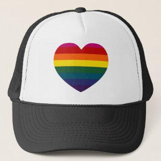 Regenbogen-Herz Truckerkappe