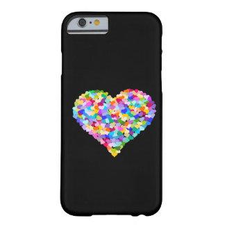 Regenbogen-HerzenConfetti Barely There iPhone 6 Hülle