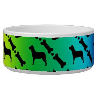 Regenbogen-Hintergrund-Hundeschüssel Napf