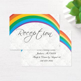 Regenbogen-homosexuelle Hochzeit - Empfang Visitenkarte