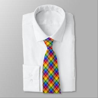 Regenbogen kariert bedruckte krawatten