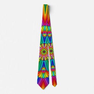 Regenbogen-Karnevals-bunte kreative Krawatte