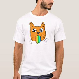 Regenbogen kotzen den Hand-gezeichneten T-Shirt