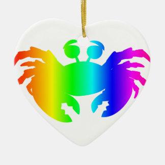 Regenbogen-Krabbe 2 Keramik Ornament