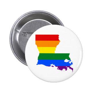 Regenbogen Louisiana Runder Button 5,7 Cm