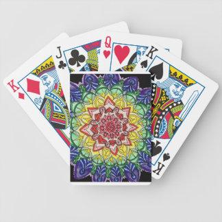 Regenbogen-Mandala Bicycle Spielkarten