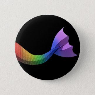 Regenbogen-Meerjungfrau-Schwanz V2 Runder Button 5,1 Cm