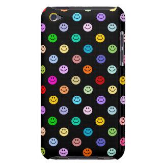 Regenbogen-MehrfarbenSmiley-Muster Barely There iPod Case