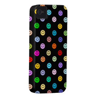 Regenbogen-MehrfarbenSmiley-Muster iPhone 4 Cover