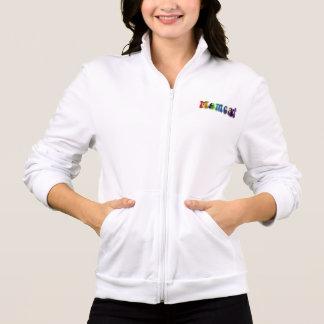 Regenbogen Momcat mit Katzen-Sweatshirt-Jacke