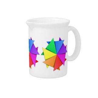 Regenbogen origami krug