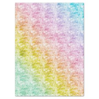 Regenbogen-Pastelle mit grafischer Beschaffenheit Seidenpapier