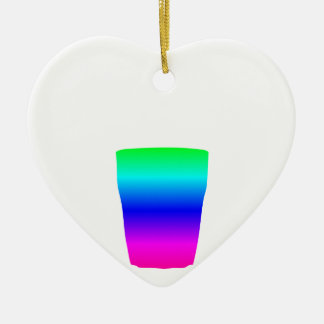 Regenbogen-Pony-Glas Keramik Ornament