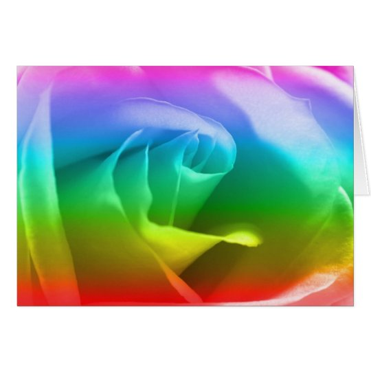 regenbogen rose gru karte zazzle. Black Bedroom Furniture Sets. Home Design Ideas