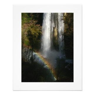 Regenbogen-Silber-Fall-Wasserfall-Oregon-Waldnebel Fotodruck