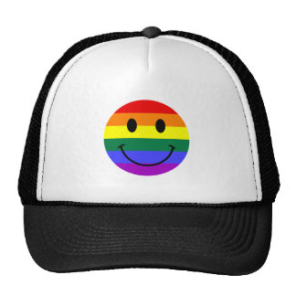 Regenbogen-Smiley Retromütze