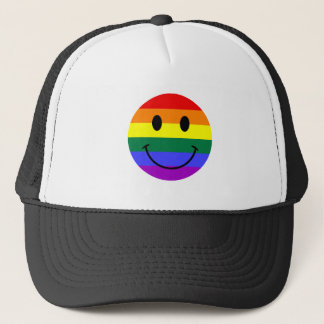 Regenbogen-Smiley Truckerkappe