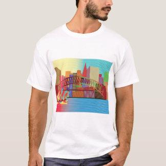 Regenbogen-Stadt T T-Shirt